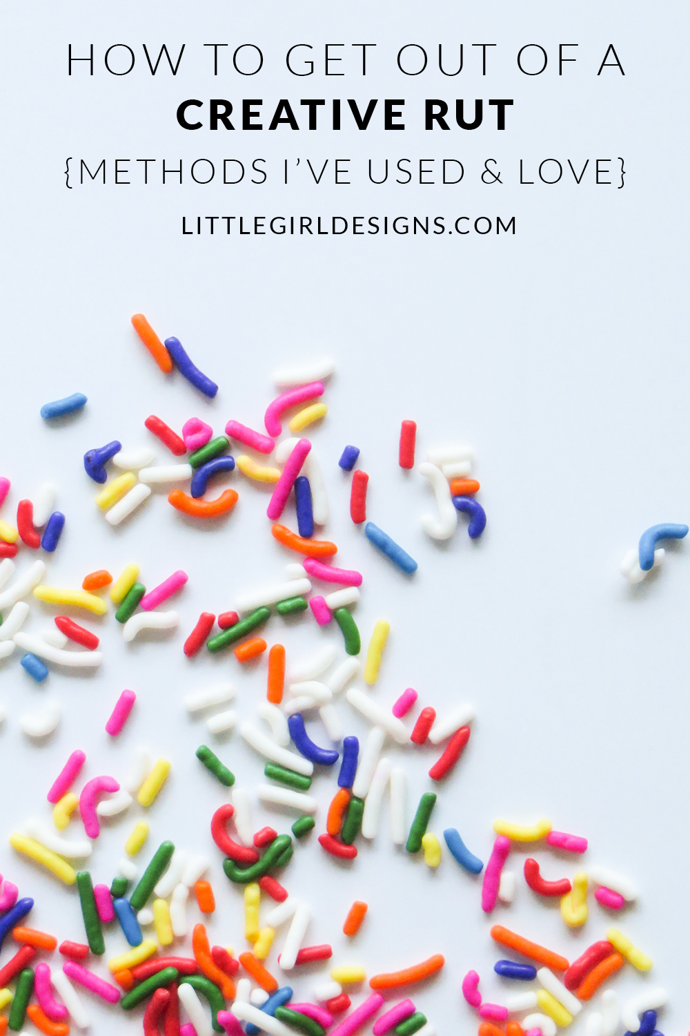 How to Get Out of a Creative Rut - Methods I've used and love. Don't you hate falling into a creative rut? You want to make stuff but feel overwhelmed, uninspired, or worse, bored. I'm sharing some techniques and tips I've tried and think they'll help you! via littlegirldesigns.com