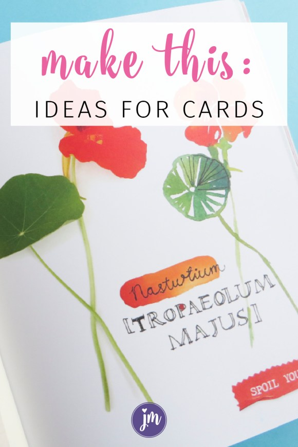 Get inspired by Flow magazine with these creative ideas for cards and art! Love this creative prompt! I'll be filling up my art journal with these! And don't even get me started with the letter writing bit. I've already made a couple of these for my pen pals. :)