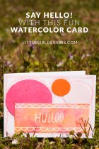 """Say """"Hello!"""" with this whimsical watercolor card by Maggie of Maggie's Butterfly Kisses. Send someone a smile in the mail today! #30daymailboxlove"""