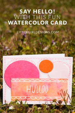 "Say ""Hello!"" with this whimsical watercolor card by Maggie of Maggie's Butterfly Kisses. Send someone a smile in the mail today! #30daymailboxlove"