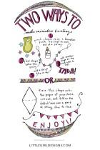 Two Different Ways to Make Miniature Bunting - illustration by Jennie Moratis of littlegirldesigns.com
