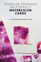 Toddler-Friendly Salt Effect Watercolor Cards