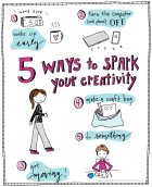 5 Ways to spark the inner creative in you! Do you love (or want to love) being creative but can't find the time or motivation? These ideas will help you—read more when you click the image! :)