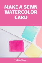 Sewn Watercolor Cards Guest Post