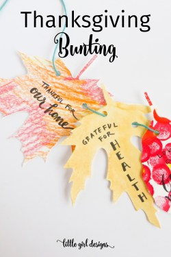 Make this Thanksgiving bunting with your family this year. This crafter shares several variations on how to make this work, and it's such a great tradition to do together!