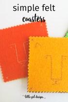 Simple Felt Coasters