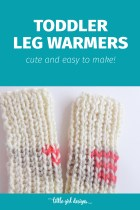 How to Make Toddler Leg Warmers