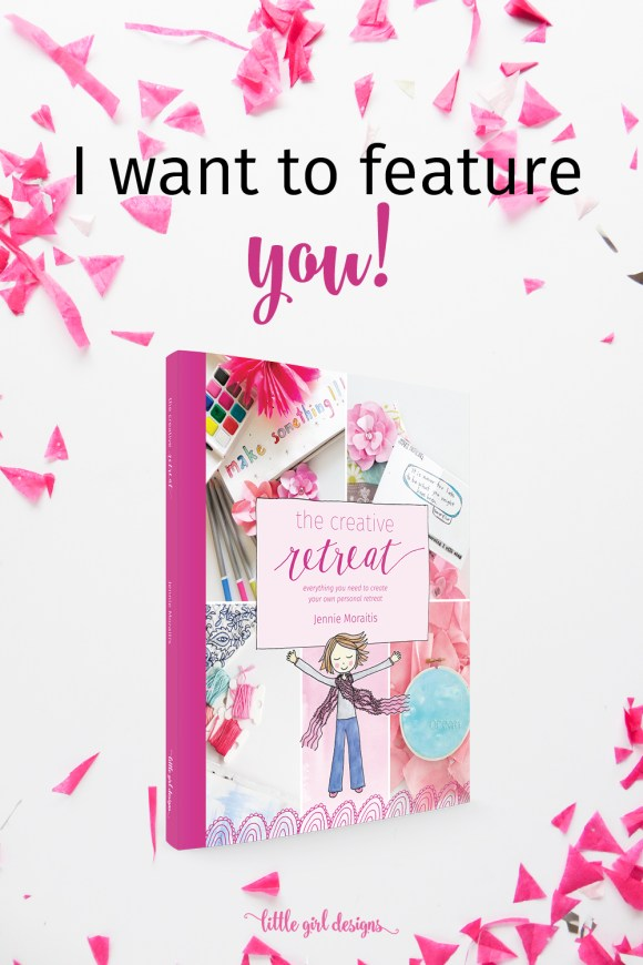 I want to feature you! Do you have a Creative Retreat book? Send me a picture of your book and I'll share it on my Instagram. It's so fun to see these books being used all over the world! You'll get to inspire so many women. :)