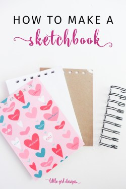 Learn how to make your own sketchbook with this simple DIY tutorial. You won't believe how easy it is to make your own art journals, sketchbooks, and journals! No stitching required.