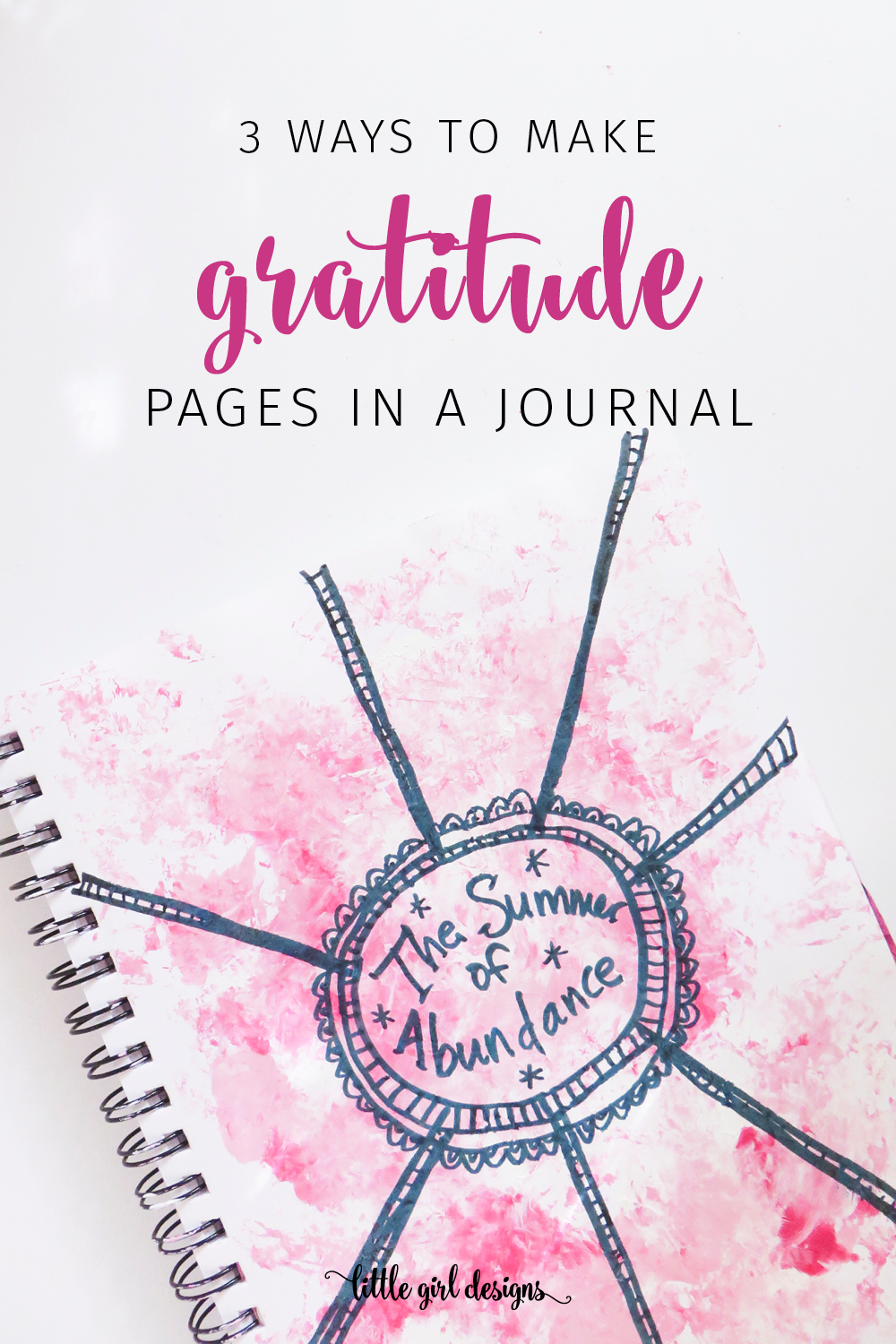 Want to start a gratitude journal? You can DIY your own in an art journal, bullet journal, or regular journal. Here are three fun ways to make gratitude pages in your journal. Grab your paints—this is going to be colorful and fun! Oh, and children LOVE these prompts and ideas too. :)