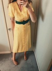 vintage dress & belt, thrifted shoes.