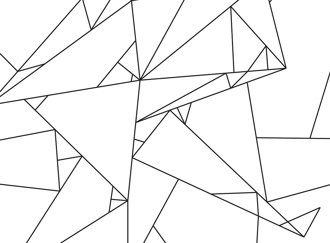 Origami Line Art Free Printable Little Gold Pixel