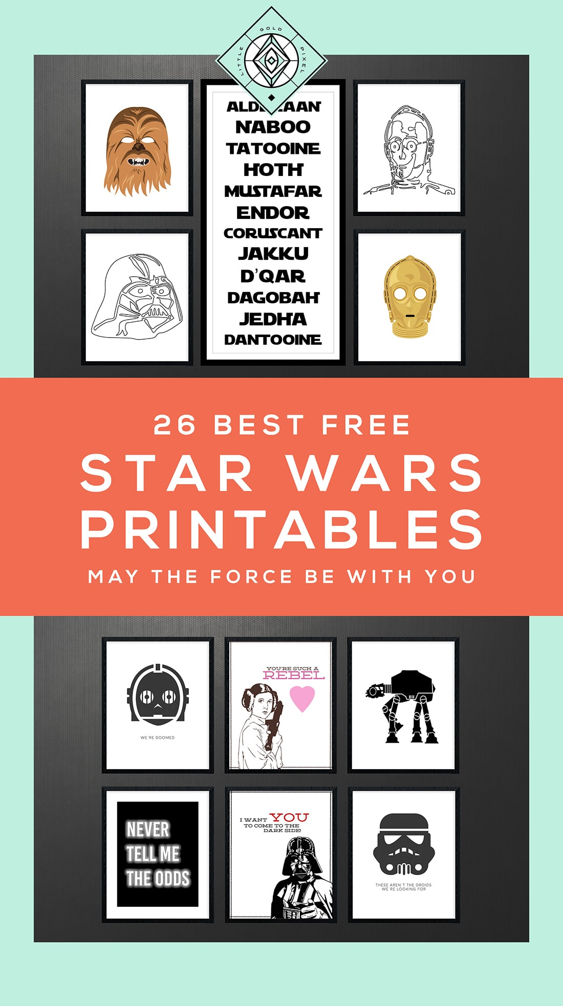 Star Wars Free Printables A Roundup Little Gold Pixel