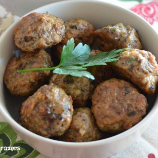 Parmesan and Mushroom Chicken Meatballs
