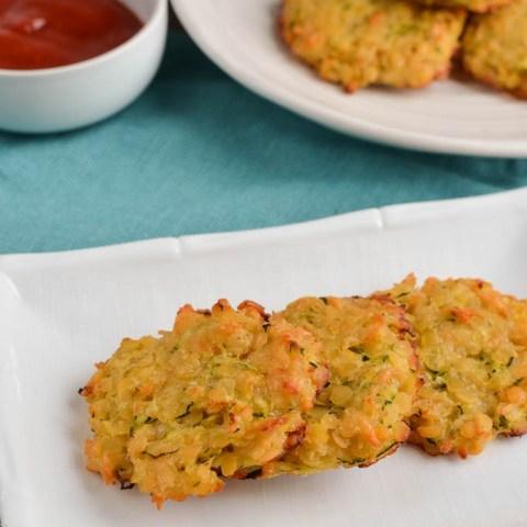 Mini Zucchini Parmesan Lentil Patties