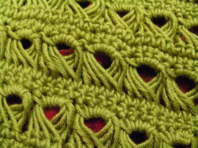 Crocheting Directions : Week 6: Broomstick Lace and Shell Stitch - Knotting Noodles