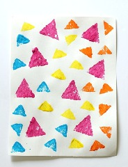 sponge painted shapes