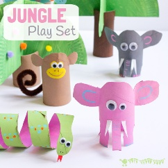 Toilet-Paper-Roll-Crafts-Jungle-Scene-Playset-square