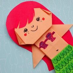 origami mermaid
