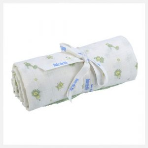 Eco-Child---Large-Muslin-Swaddle---Light-Green-Safari-Print Organic