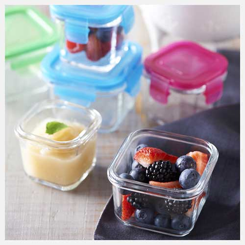 Littlelock Glass Baby Food Containers
