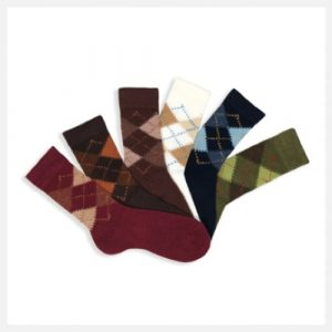 Condor Argyle Warm Socks (Pattern Example)