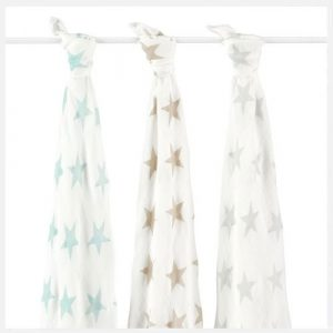 aden + anais - Bamboo Swaddles - 3 Pack - Milky Way