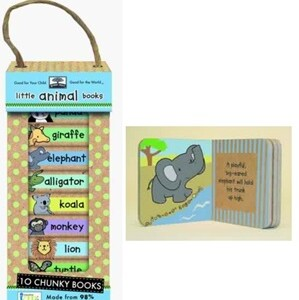 GREEN START BOOK TOWER - LITTLE ANIMAL ( BOARD)
