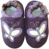 softies-baby-booties-Purple-butterflies-soft-sole-leather
