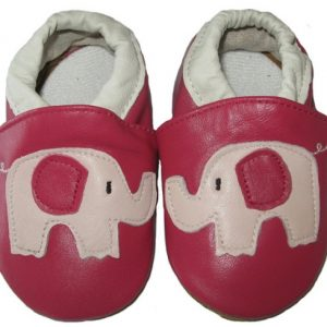 Softies-baby-shoes-scarlett-red-elephant-soft-sole-1