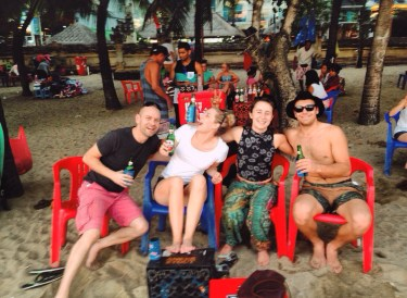 The gang in Kuta