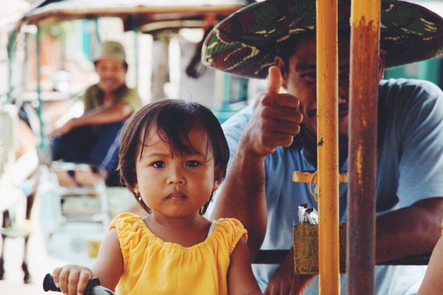 Little girl at local market
