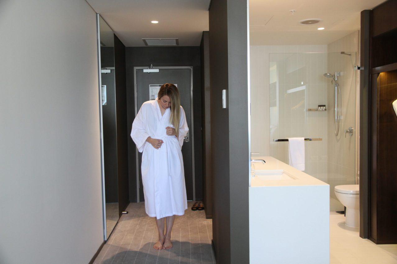 Next Hotel - Bathroom and hallways