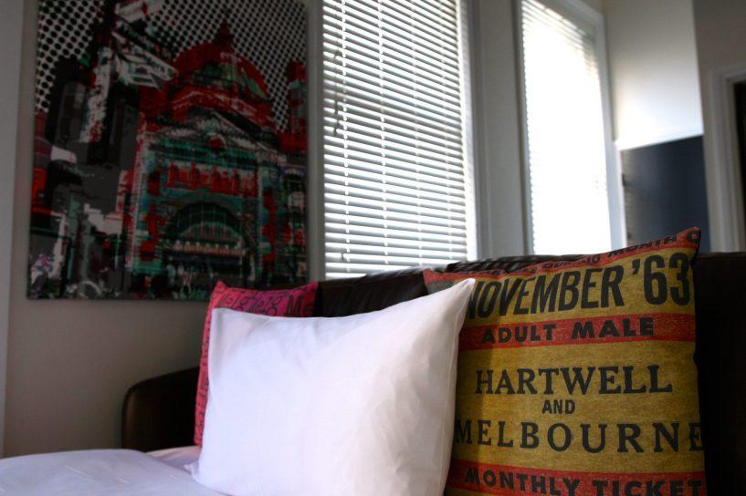 Sofa Bed and art at MCC