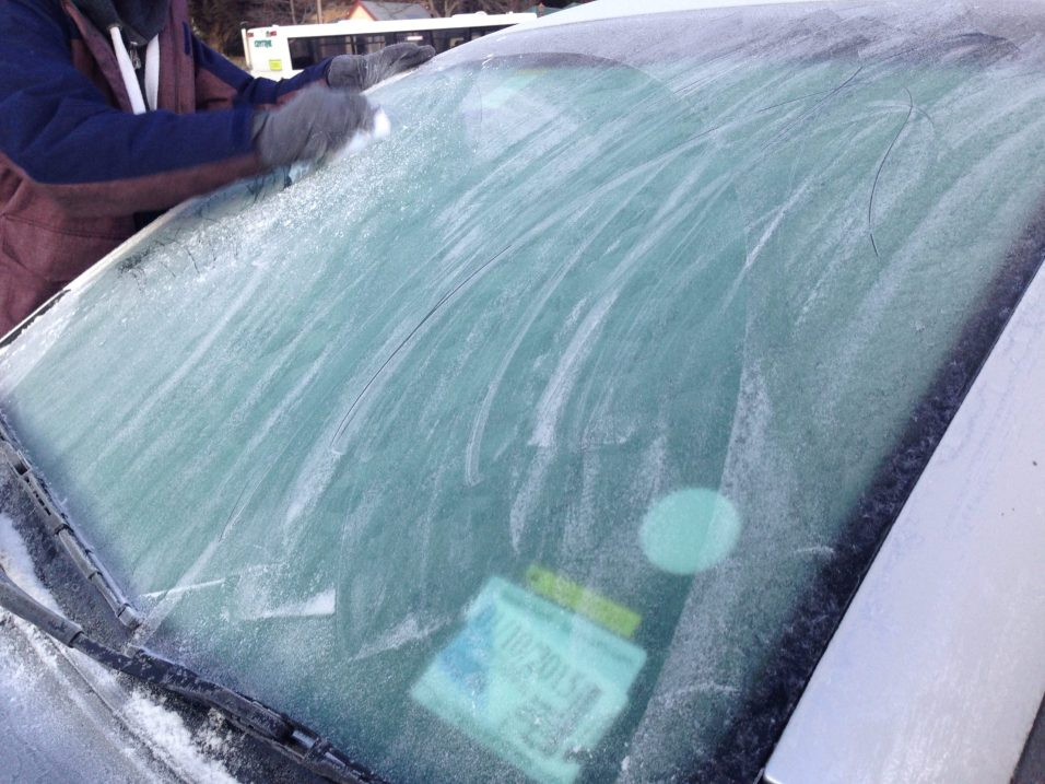 Frosted frozen windscreen help travel tips new zealand