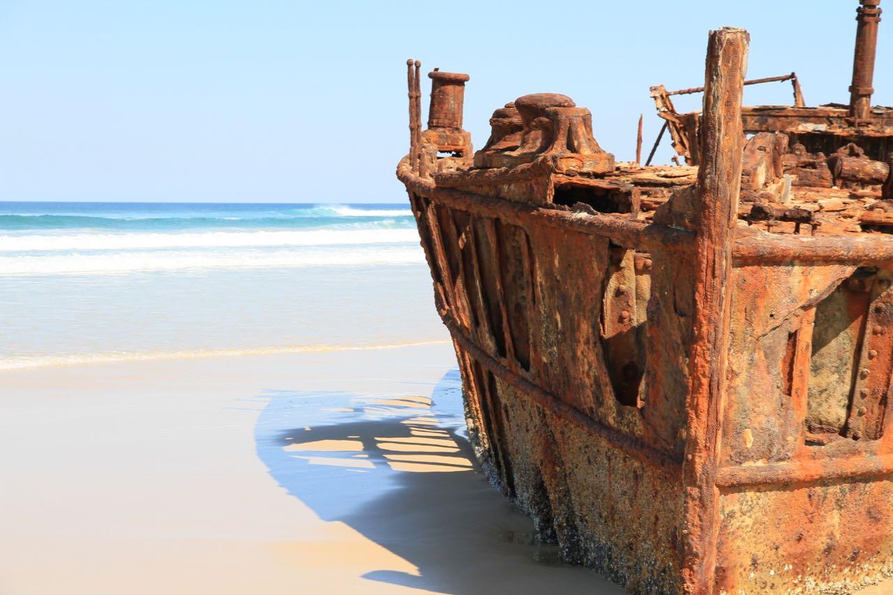 Maheno Shipwreck Things to do on Fraser Island Travel Blog Australia Queensland