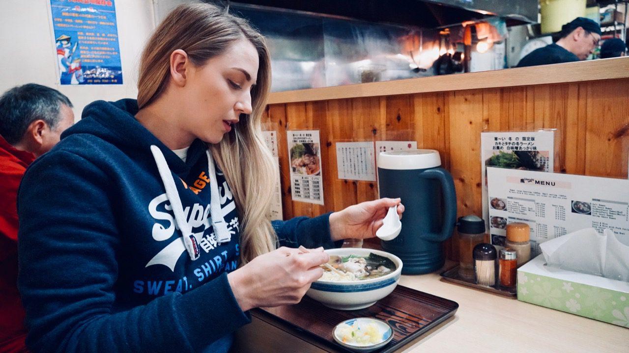 Eating Ramen in Kushiro © Little Grey Box