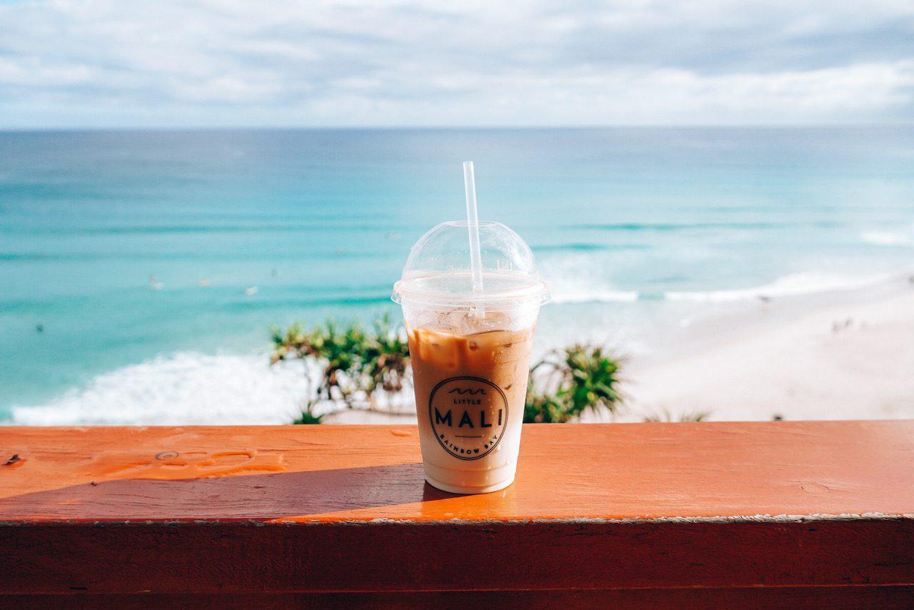 Coffee overlooking Greenmount Beach © Little Grey Box