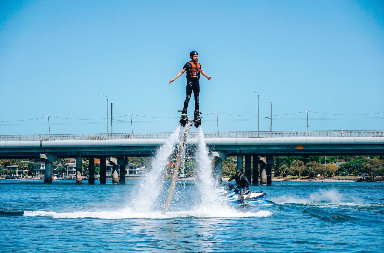 Flyboarding on the Gold Coast ©Little Grey Box