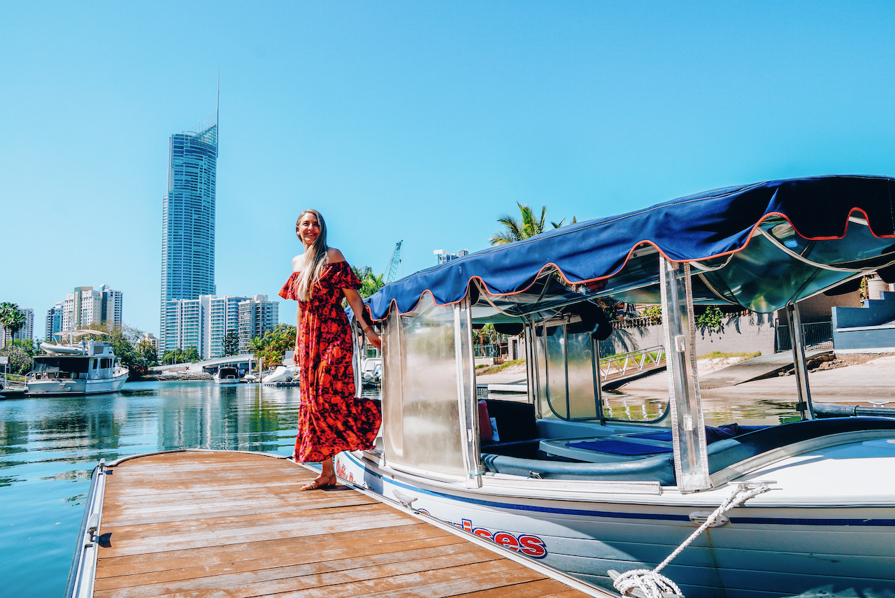 Duffy Boat Hire on the Gold Coast ©Little Grey Box
