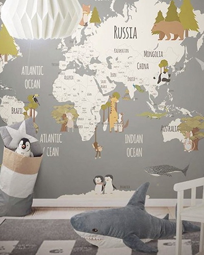 LH – Animals World Map III Room