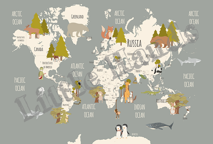 Animals World Map Iii Little Hands