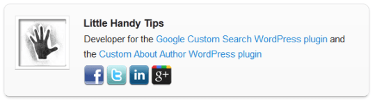 Custom About Author Wordpress Plugin | Little Handy Tips