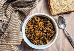 Braised Black Beluga Lentils and Veggies