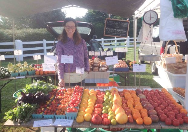 Heather selling at the Nelson County Market