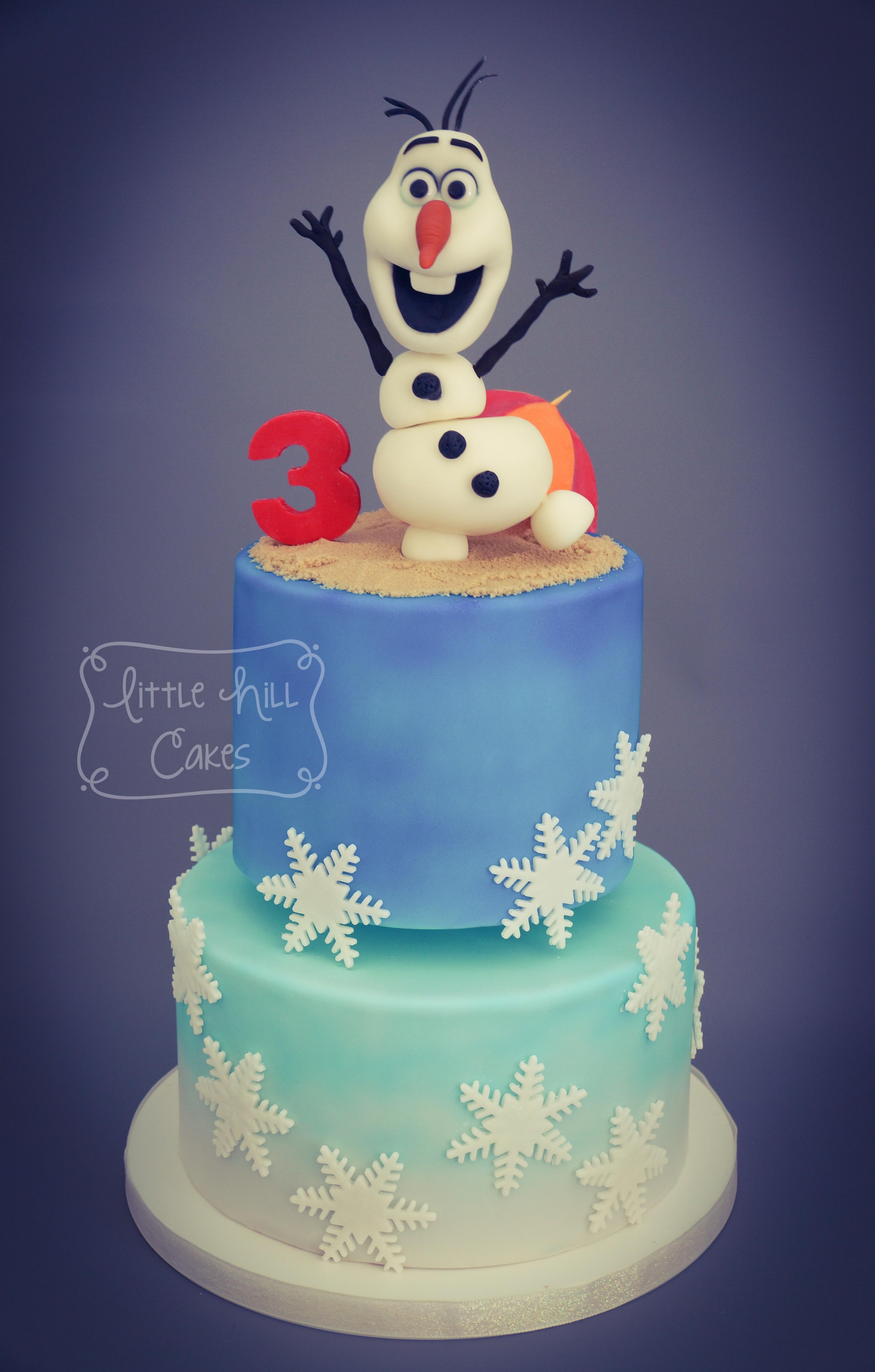 Olaf In Summer 3rd Birthday Cake