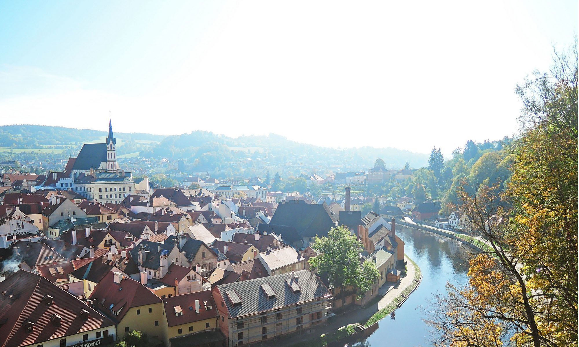 Perfect weather at Cesky Krumlov, Czech Republic