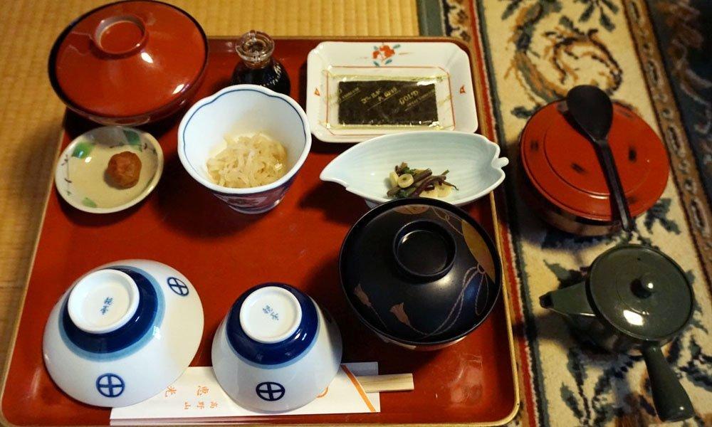 Traditional Japanese meal at Koyasan