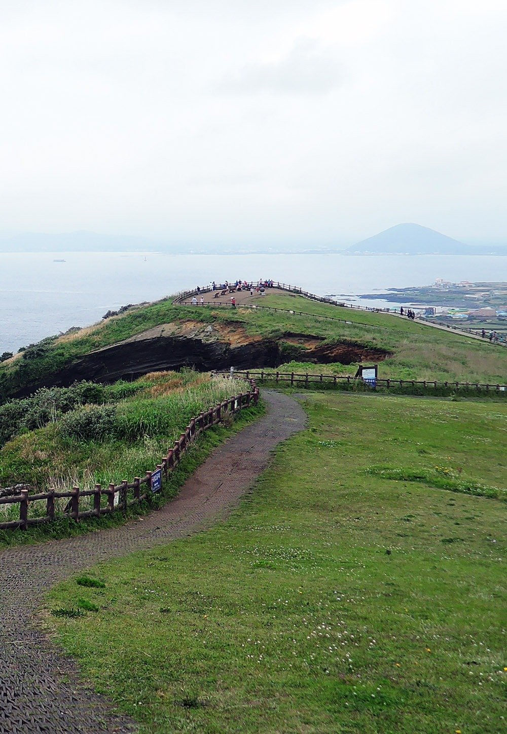 Views from Udobong Peak, the highest point of Udo Island.