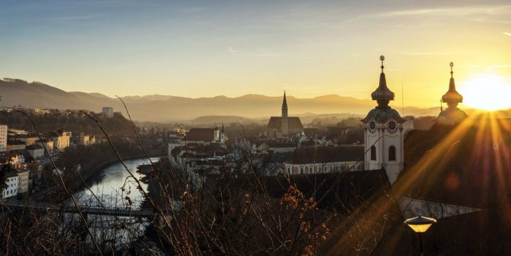 View of Steyr city in Austria